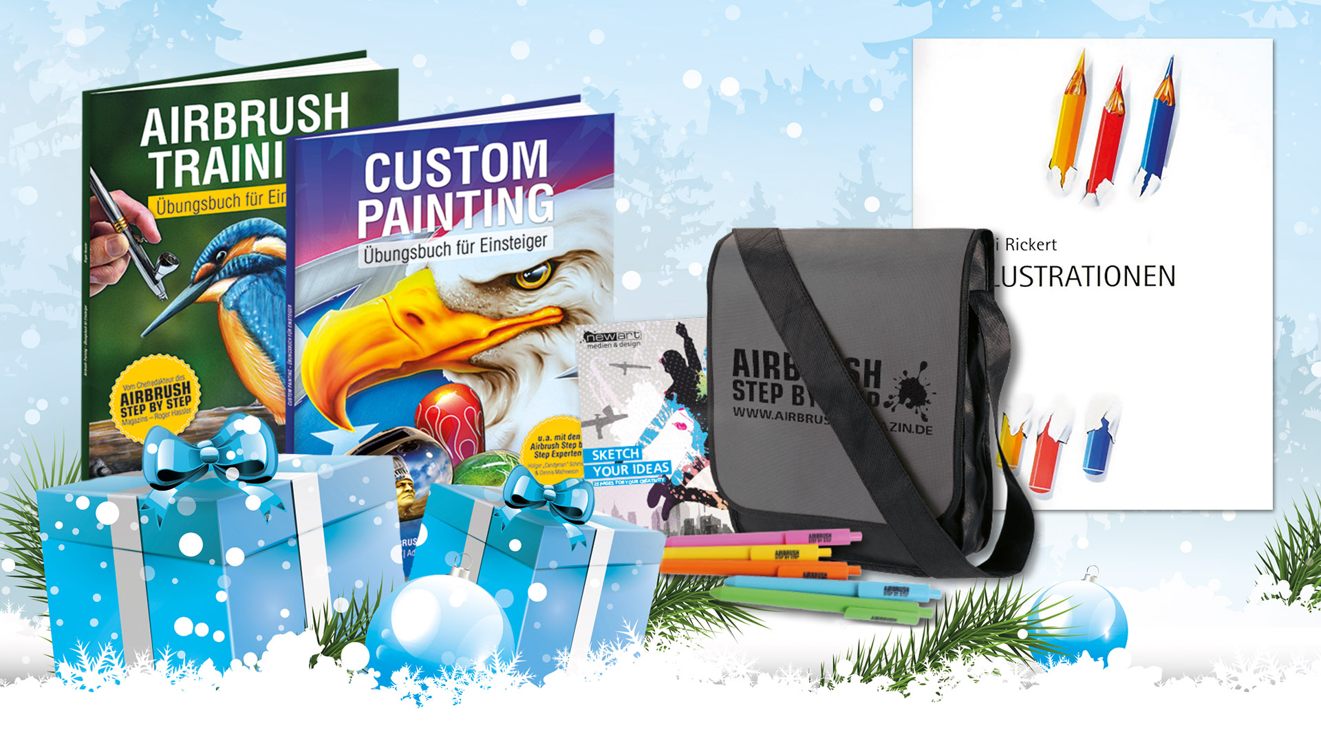 Airbrush Step by Step Weihnachtsshopping