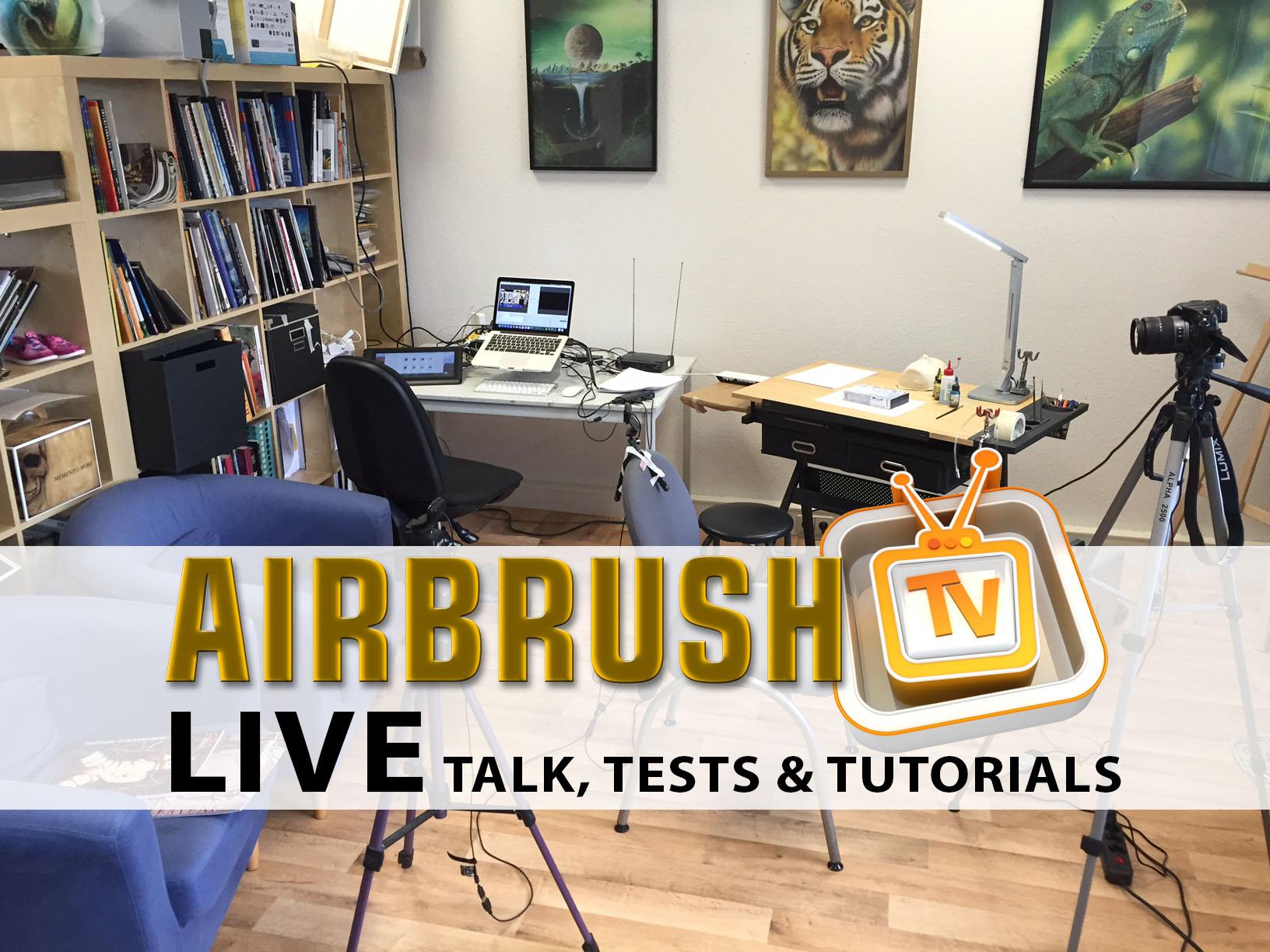 Erste Airbrush TV Live Show