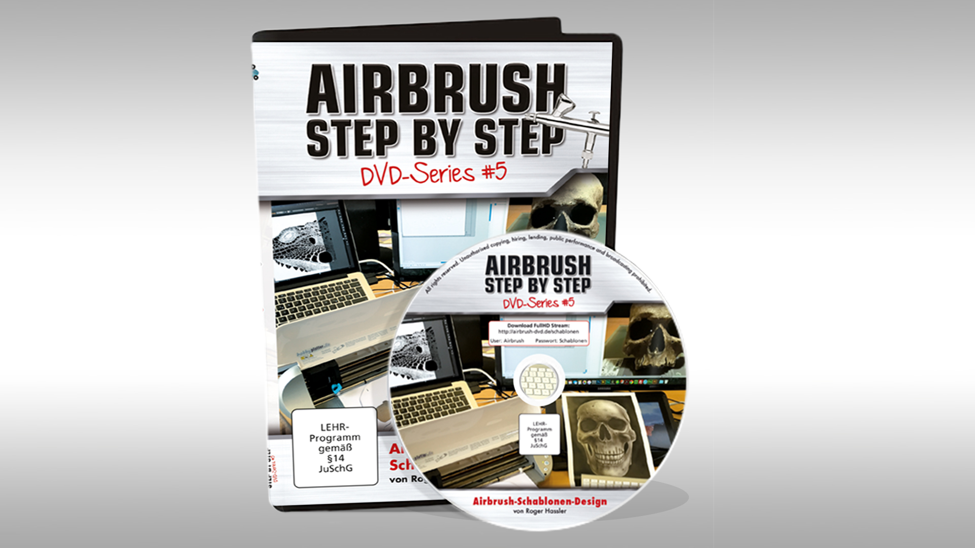 airbrush schablonen design runde 5 f r die asbs dvd series airbrush step by step magazin. Black Bedroom Furniture Sets. Home Design Ideas