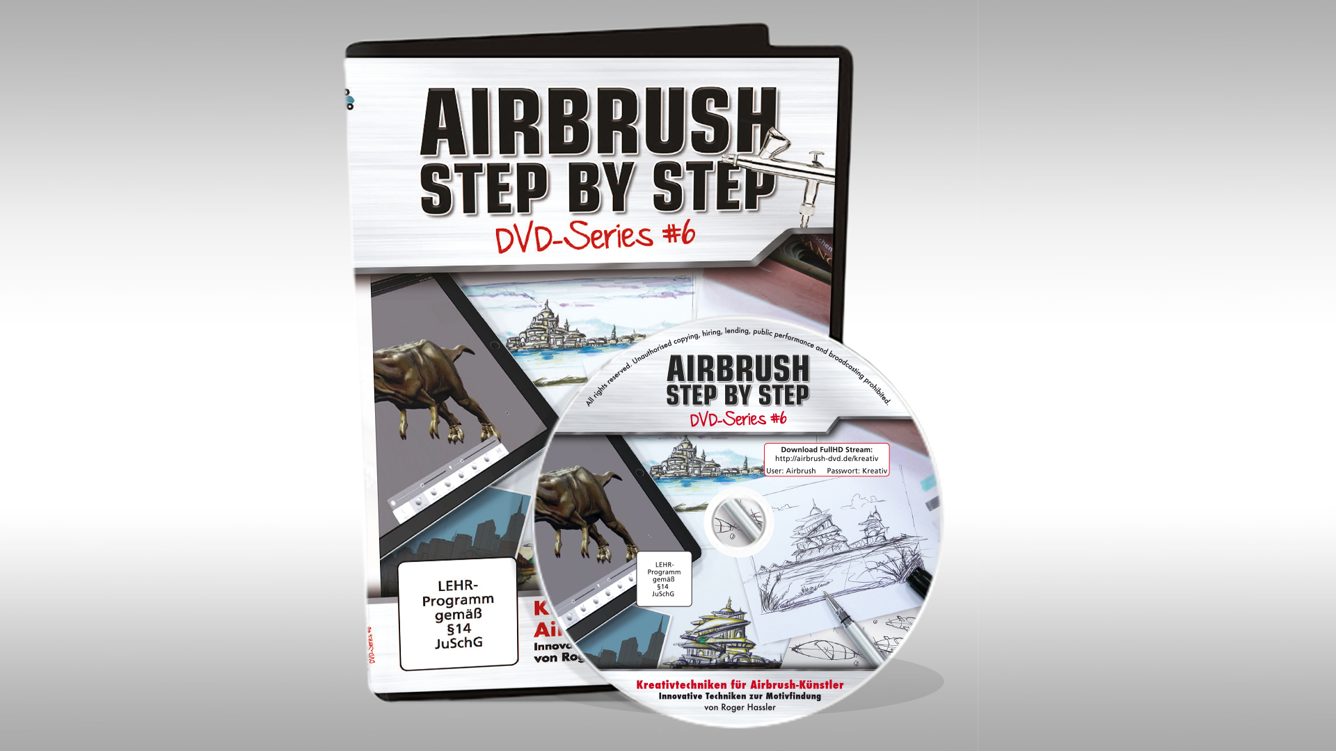 Airbrush Step by Step DVD-Series #6: Kreativtechniken für Airbrush-Künstler
