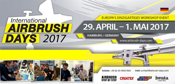 Letzte Tickets für die International Airbrush Days 2017