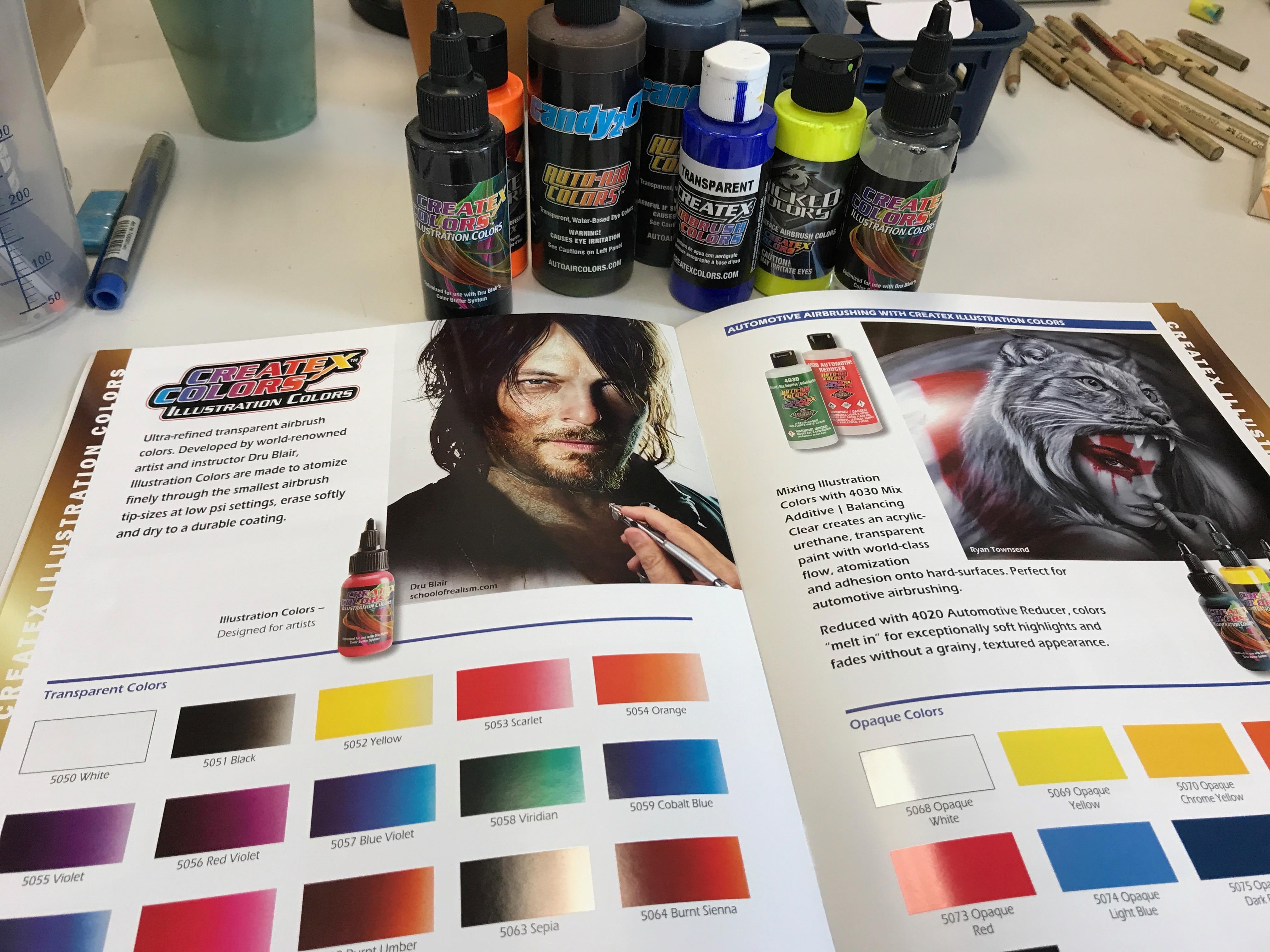 Mehr als nur Werbung: Neuer Farbkatalog von Createx