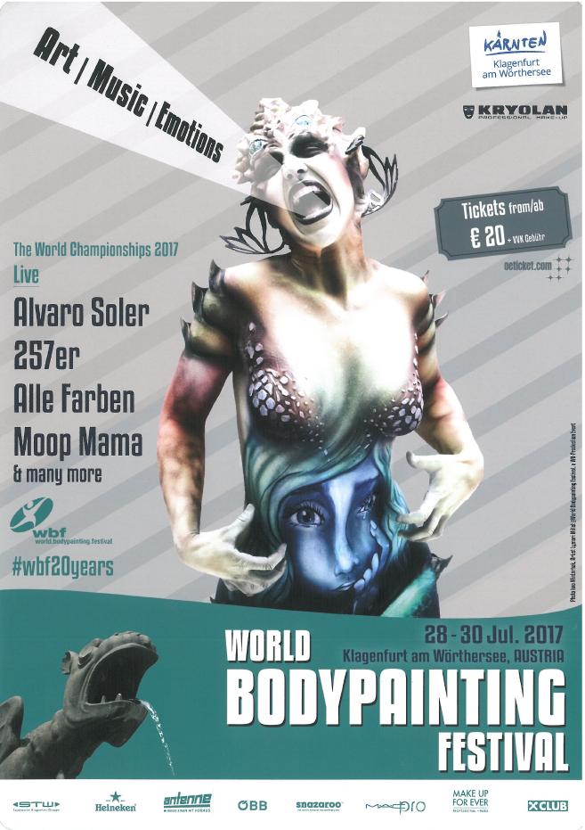 20 Jahre World Bodypainting Festival mit neuer Location