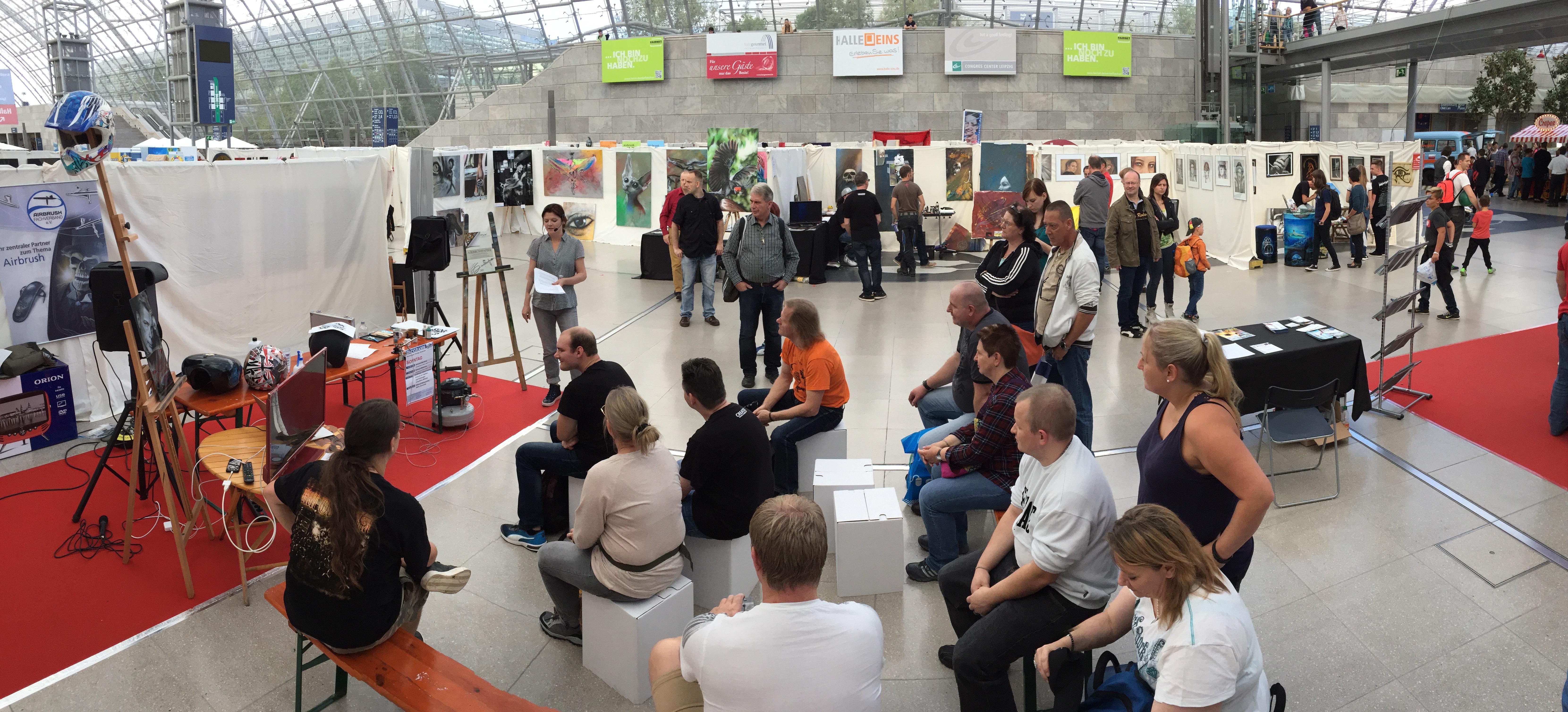 Airbrush Expo Leipzig 2017: Neue Kunstwerke und Aktionen