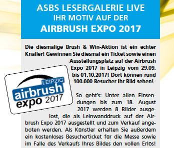 ASBS Lesergalerie live: Ihr Motiv auf der Airbrush Expo 2017