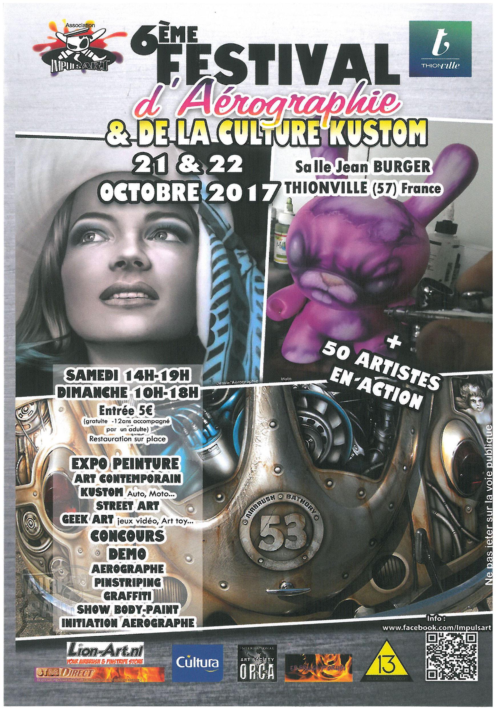 Auf nach Frankreich zum 6. Airbrush-Festival in Thionville