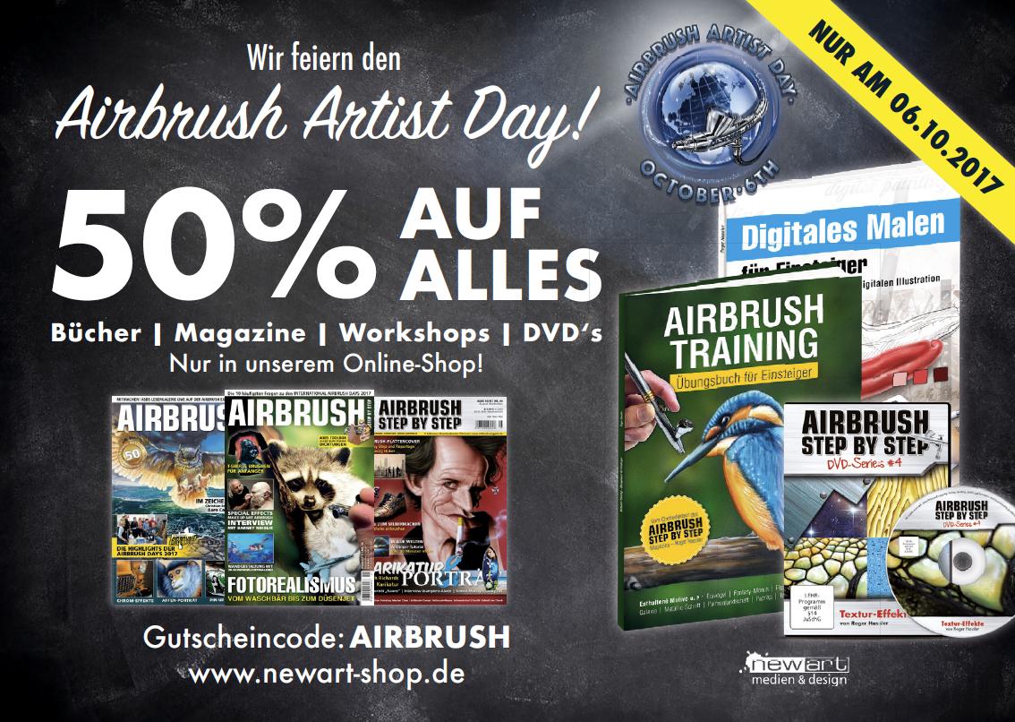 Unser Geschenk zum Airbrush Artist Day!