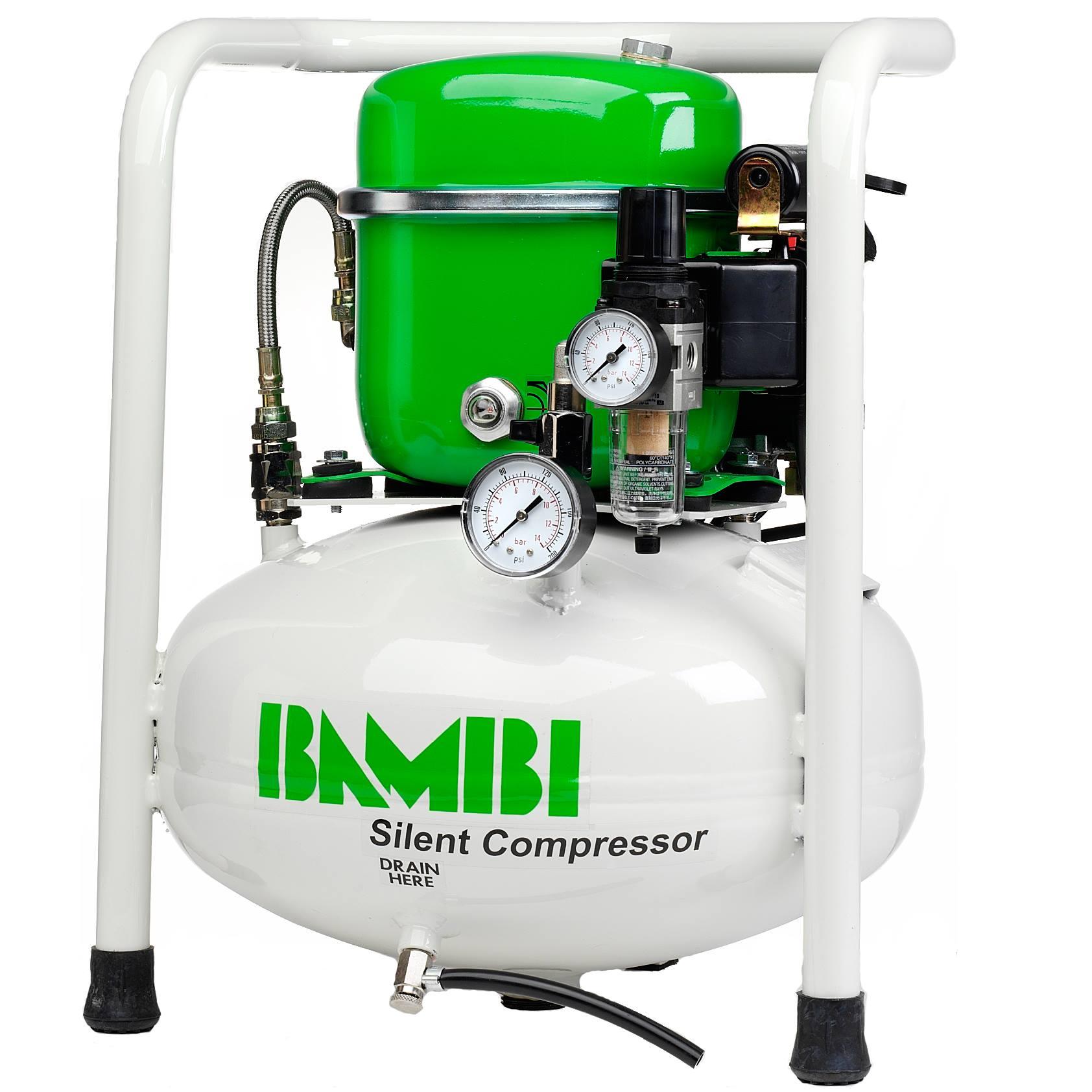 Grüne Kraftprotze: Kompressoren von Bambi
