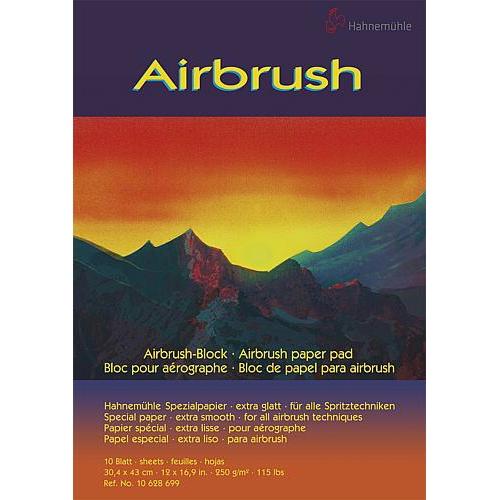 Traurig: Hahnemühle stellt Airbrush-Block ein