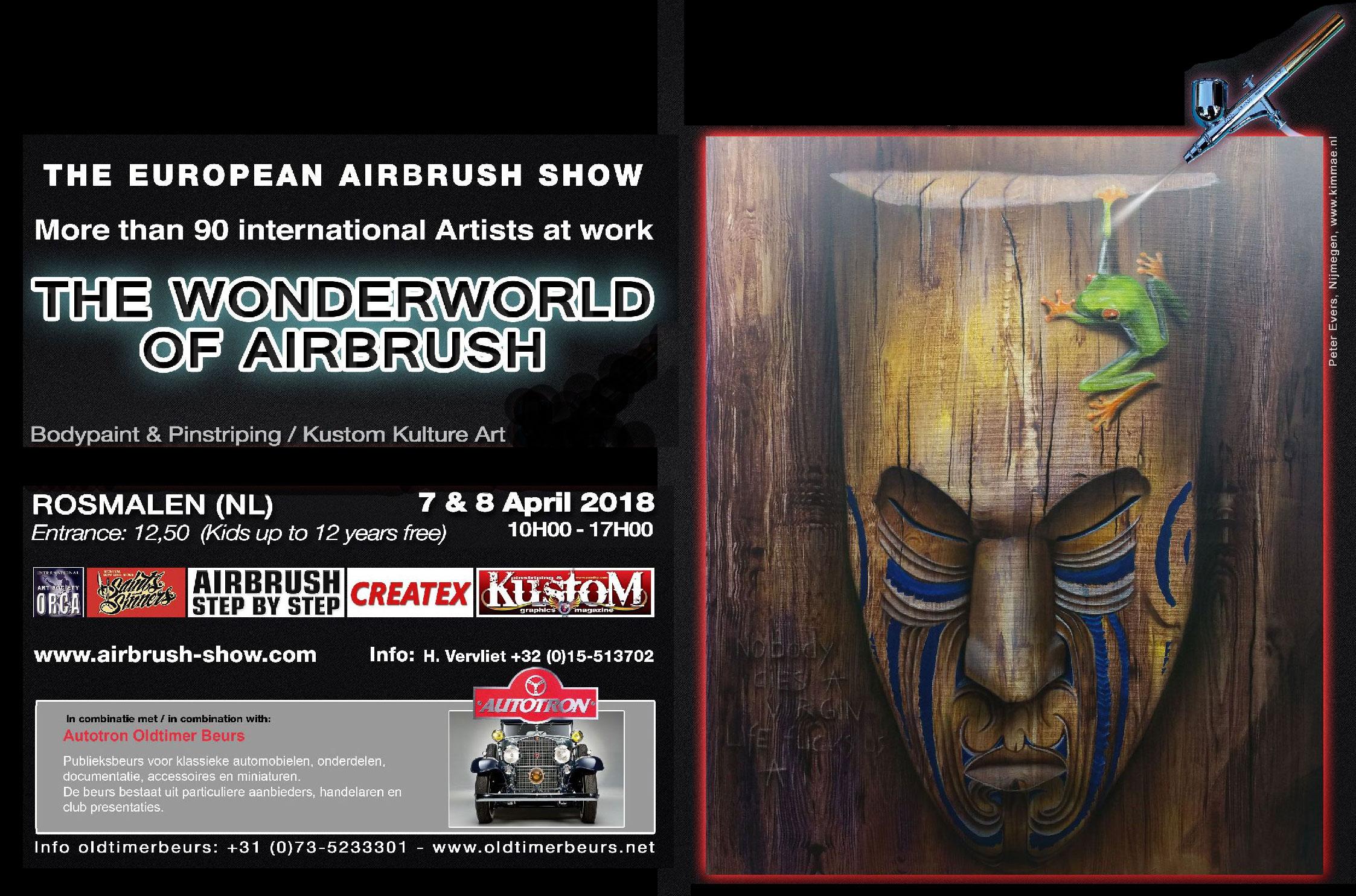 The WonderWorld of Airbrush in Rosmalen: Airbrush trifft Kustom Kulture Art
