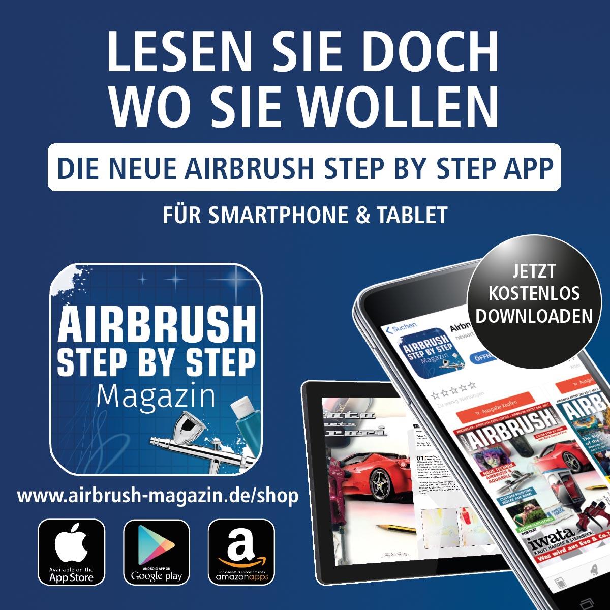 Die neue Airbrush Step by Step App ist da