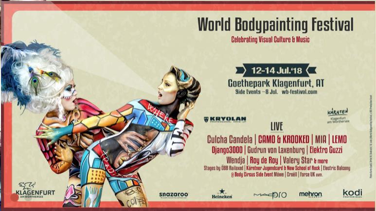 21 Jahre World Bodypainting Festival in Klagenfurt am Wörthersee