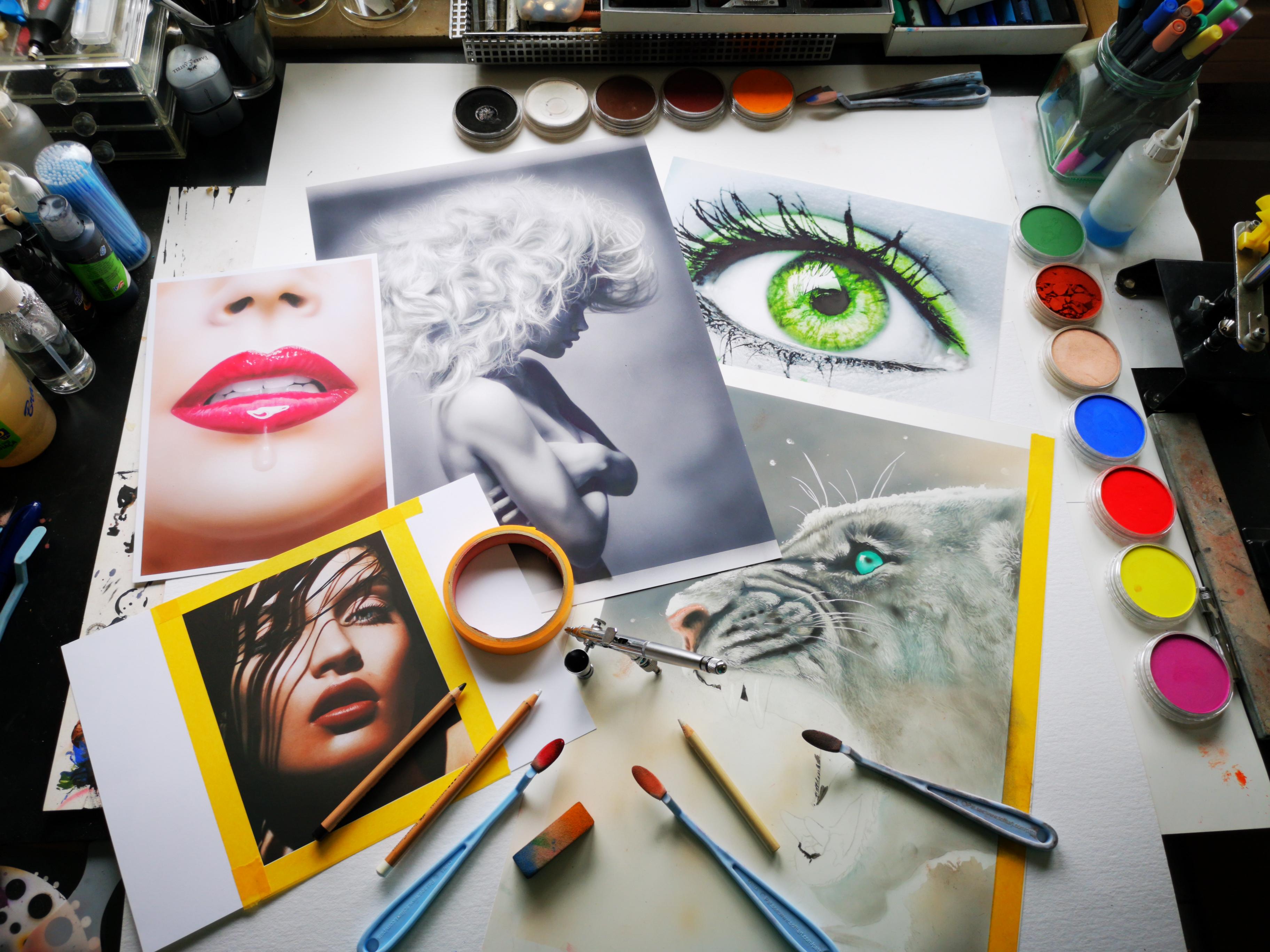 Airbrush trifft Pastell