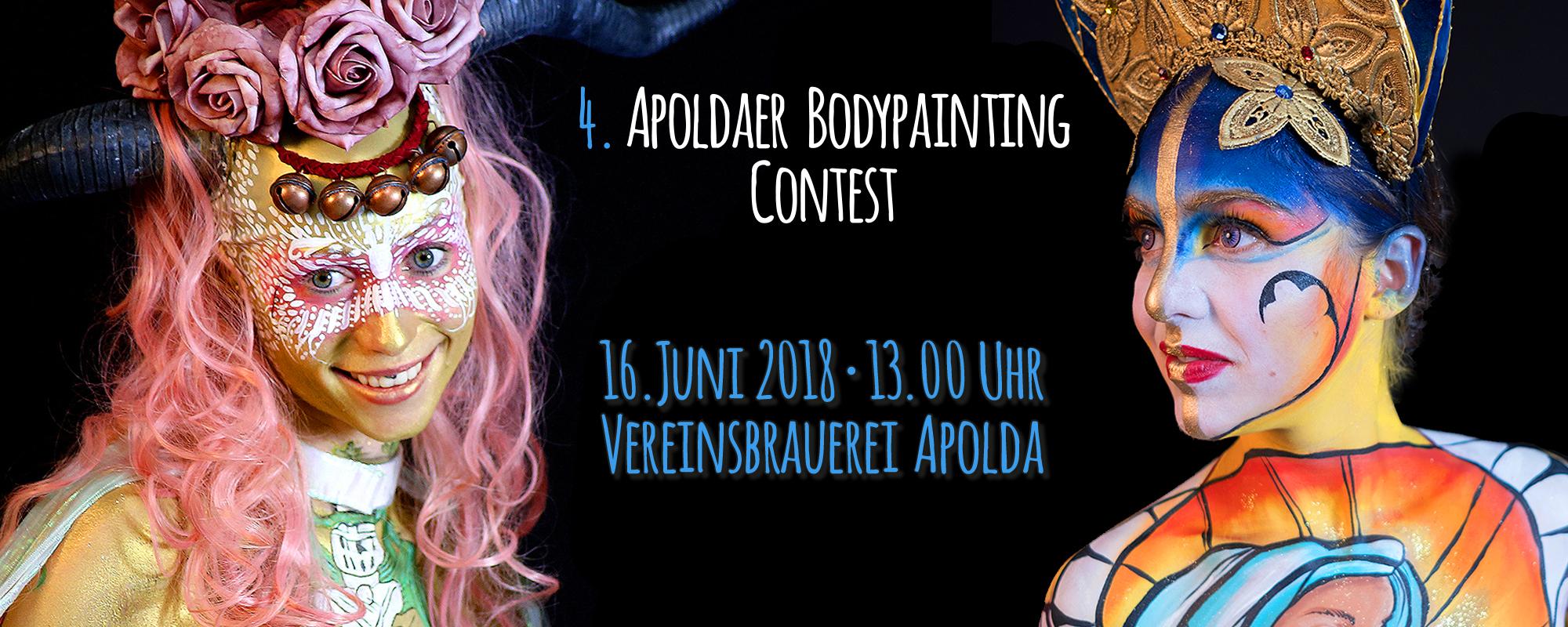 Apoldaer Bodypainting Festival 2018: Neue und alte Künstler