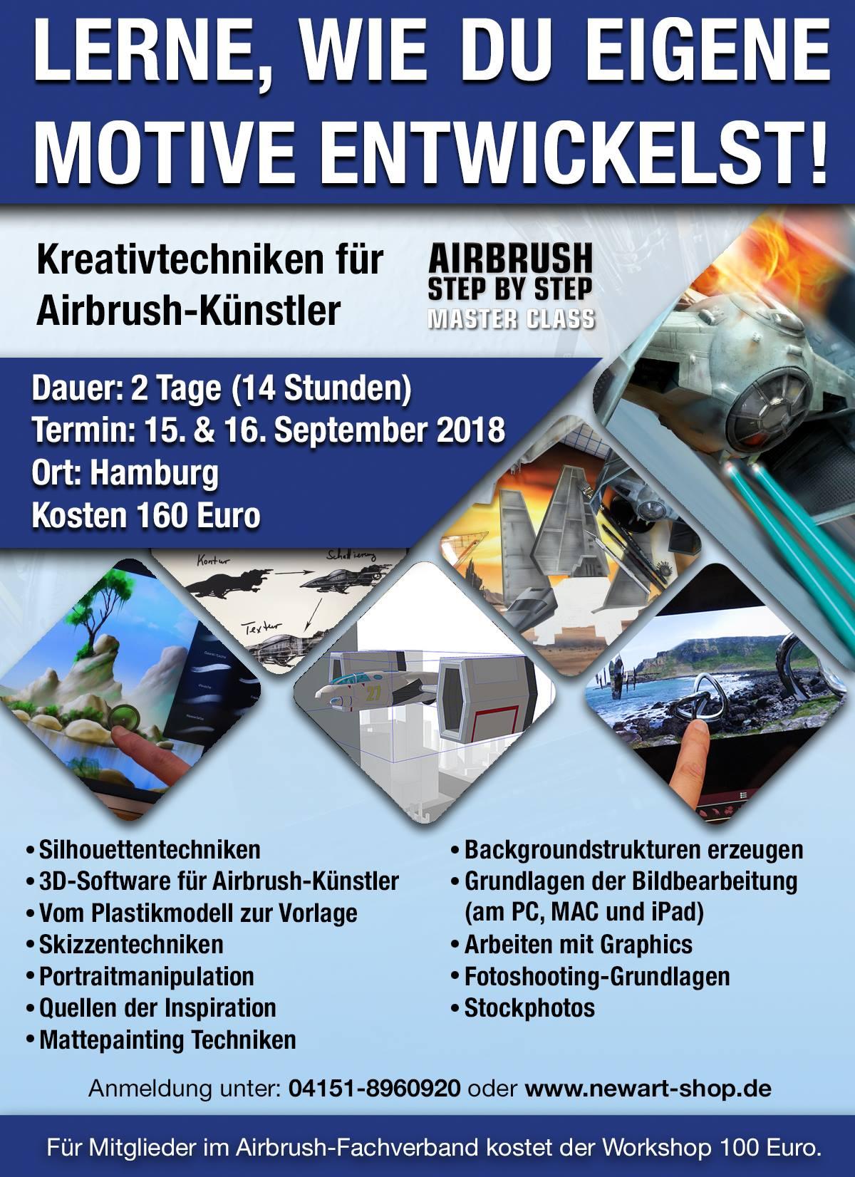 ASBS Masterclass: Kreativ-Techniken für Airbrush-Künstler im September