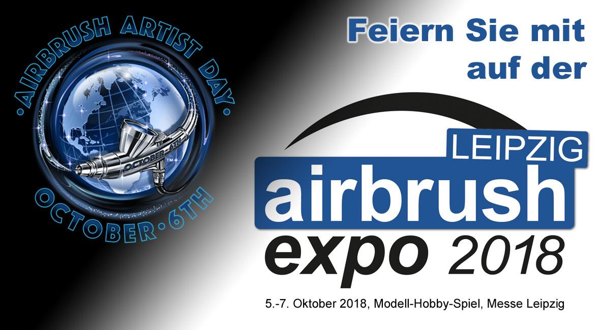 Künstler feiern Airbrush Artist Day auf der Airbrush Expo Leipzig 2018