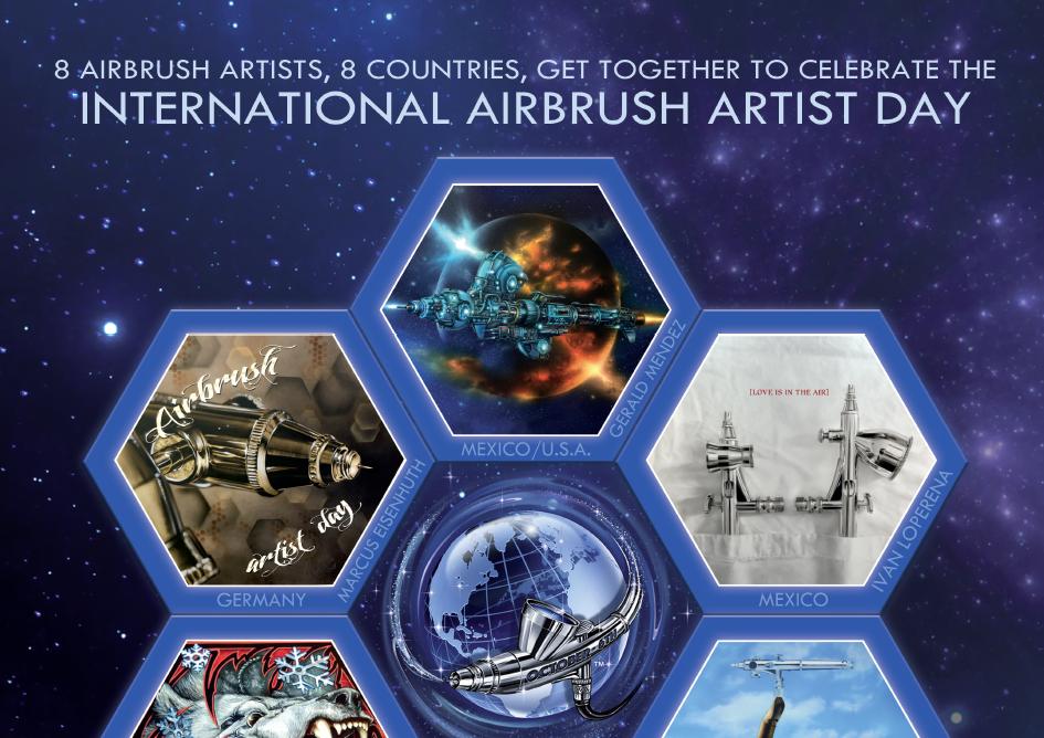 Airbrush Artist Day 2018: Die Airbrush-Welt feiert