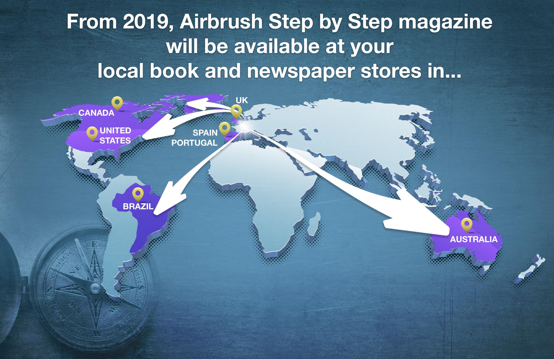 Airbrush Step by Step Englisch ab 2019 im internationalen Buch- und Zeitschriftenhandel
