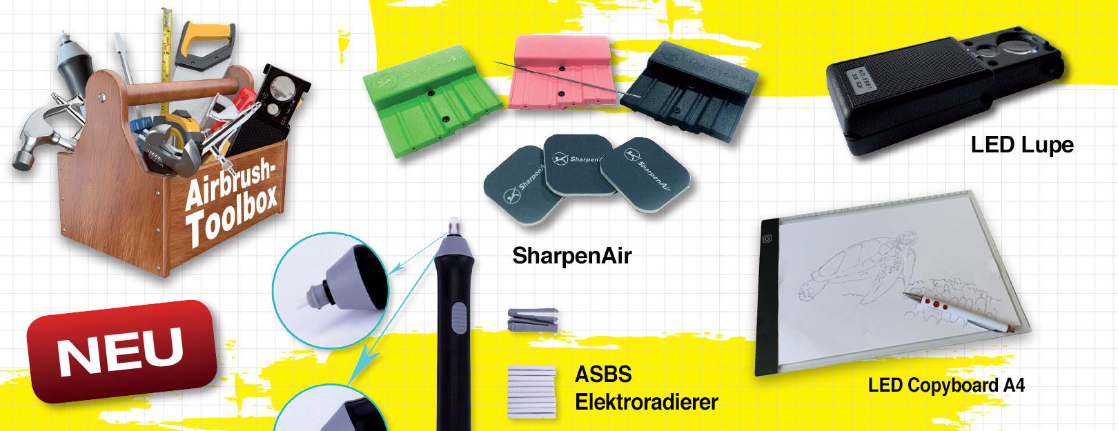 Neu im ASBS Online-Shop: Praktisches, nützliches und ausgesuchtes Airbrush-Zubehör, das (noch) nicht jeder hat!