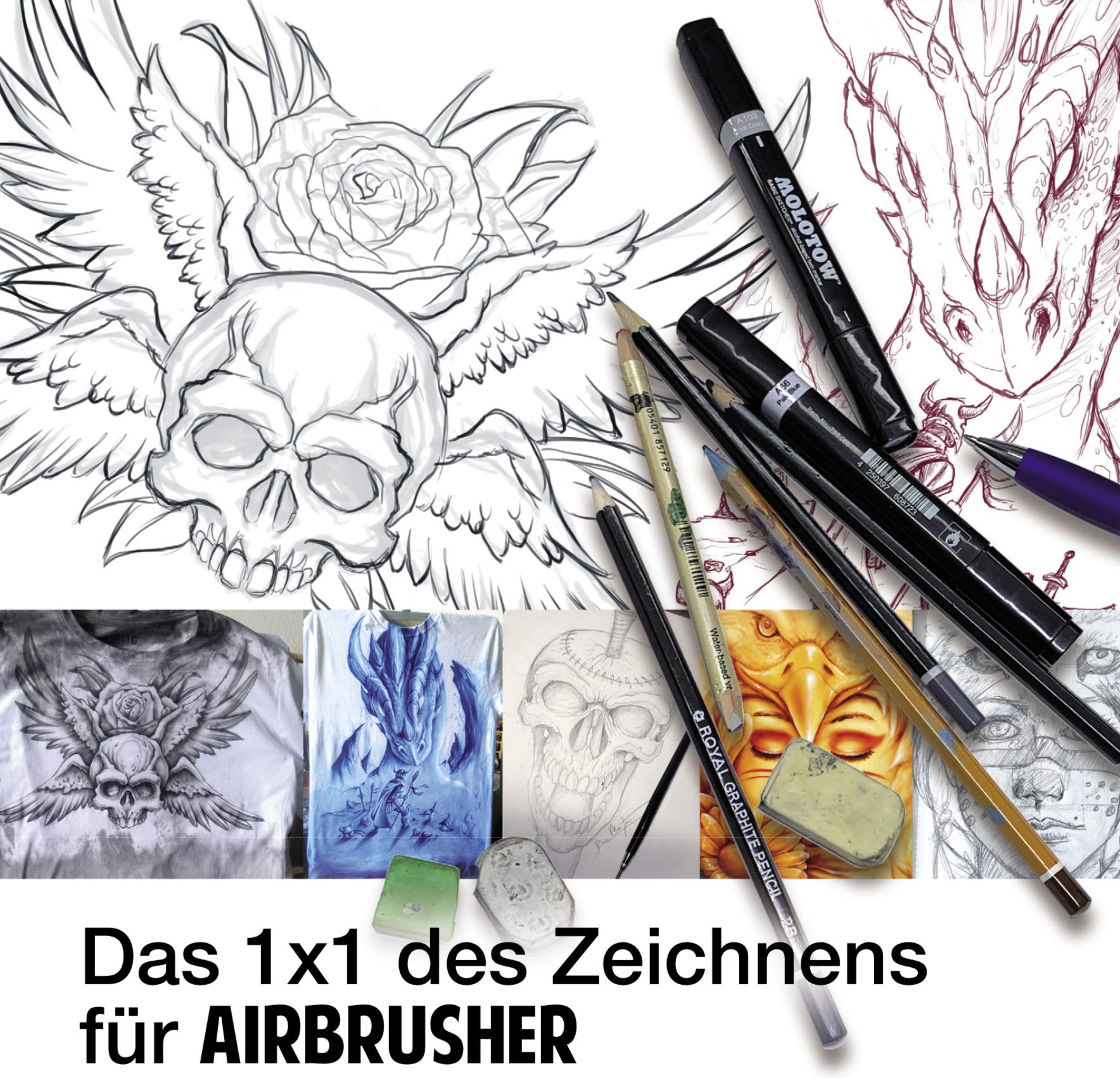 Das 1×1 des Zeichnens  für Airbrusher