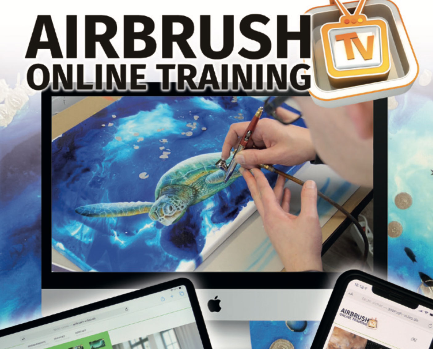 Airbrush Online Training: Das neue Videoportal von Airbrush Step by Step
