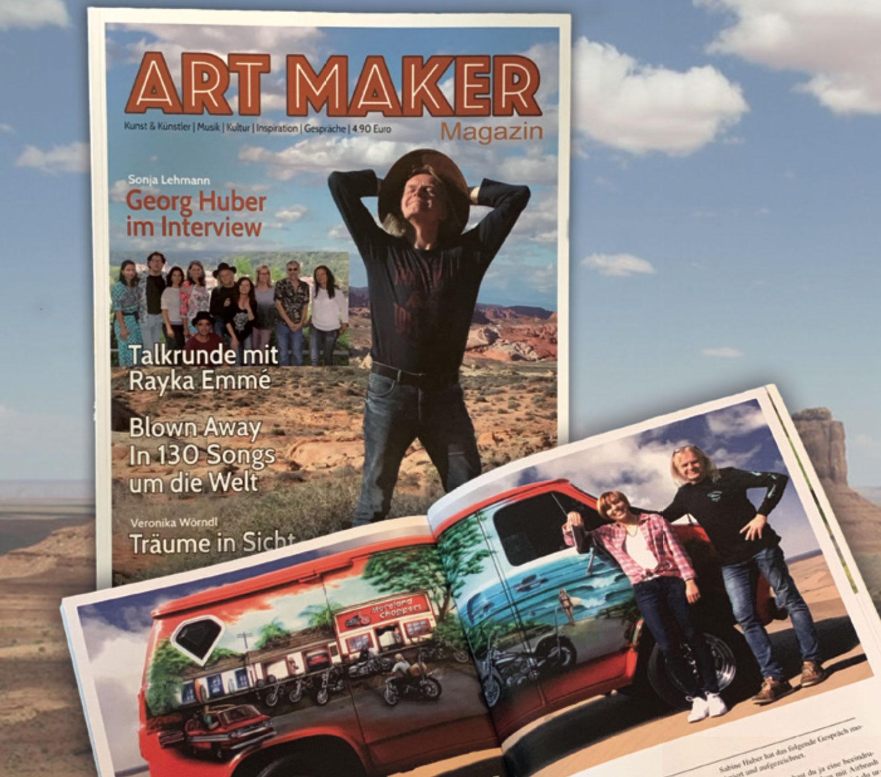 Art Maker Magazin: Die neue Kunstzeitschrift von Georg Huber