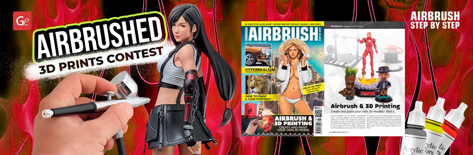Airbrush Step by Step unterstützt 3D-Druck-Malwettbewerb von Gambody
