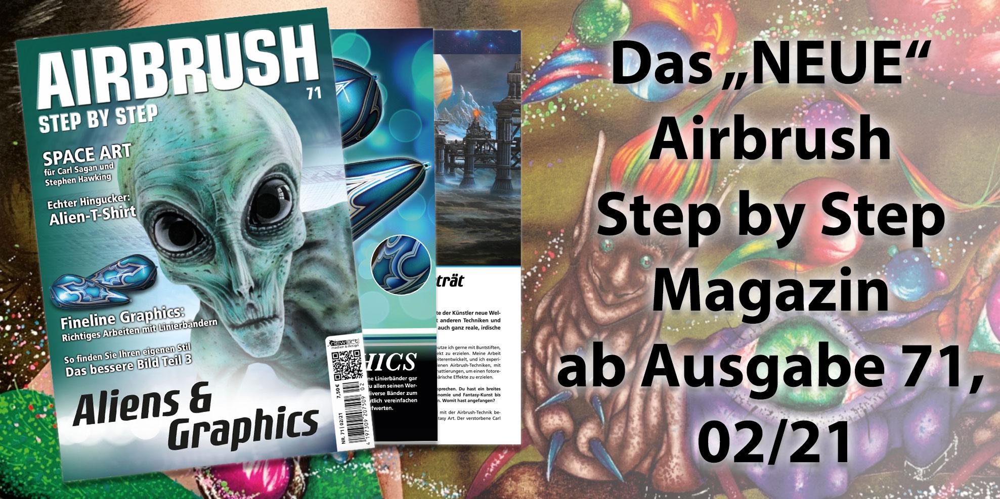 Airbrush Step by Step Relaunch 2021: Neues Outfit und bessere Verfügbarkeit