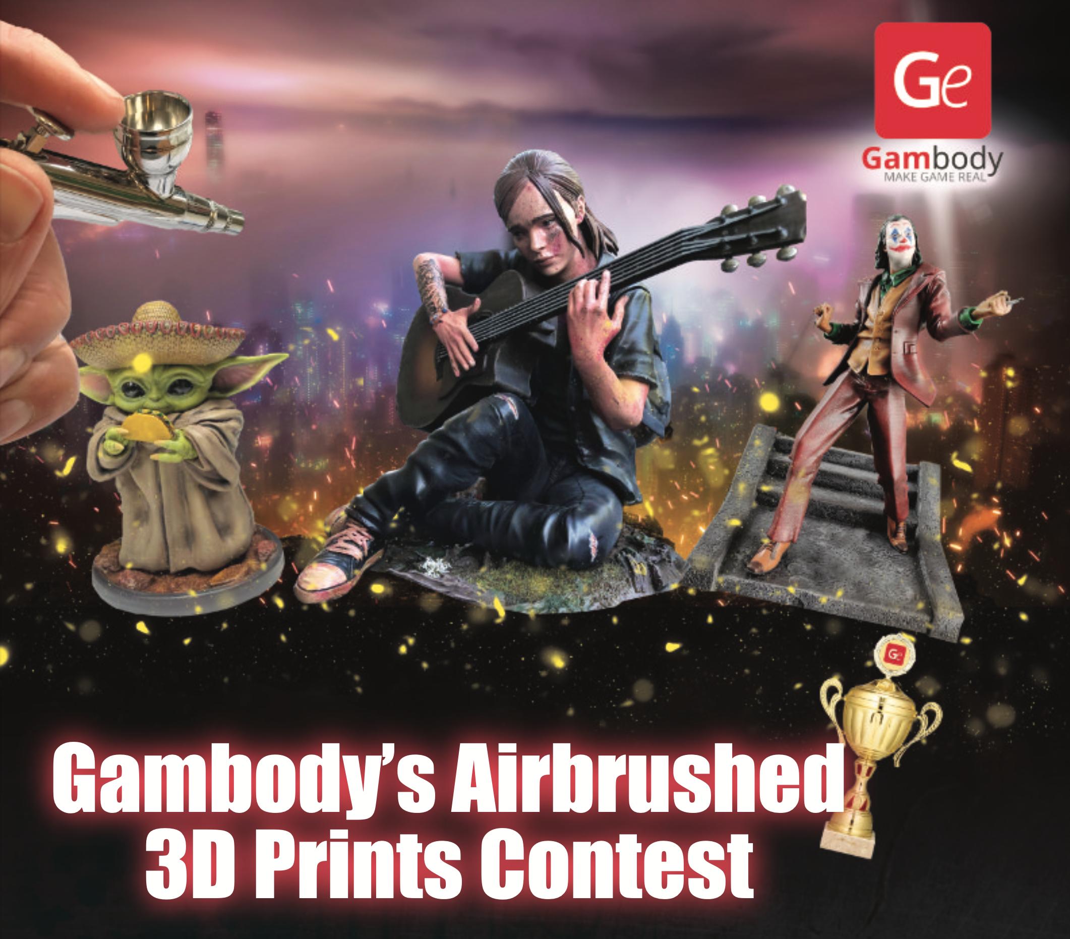 Die Gewinner des Airbrush- und 3D-Druck-Wettbewerbs von Gambody