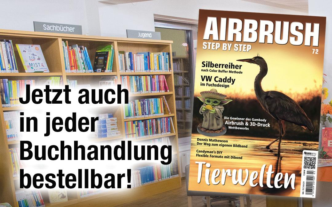Airbrush Step by Step jetzt auch in Ihrer Buchhandlung vor Ort